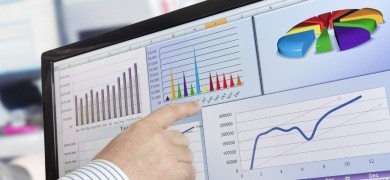 Financial analysis on the computer